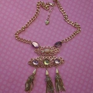 Betsey Johnson Crystal Statement Necklace